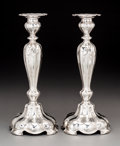Silver & Vertu, A Pair of Gorham Mfg. Company Martelé Silver Candlesticks, Providence, Rhode Island, 1919. Marks: MARTELÉ, (eagle), (lio... (Total: 2 Items)