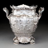 A Gorham Mfg. Company Partial Gilt Silver Wine Cooler Made for Charles M. Schwab, Providence, Rhode Island, 1906 M