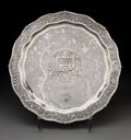 Silver & Vertu, A Wang Hing Silver Salver, Hong Kong, late 19-early 20th century. Marks: WH, 90, (maker's mark). 1-1/2 x 18-1/4 inches (...