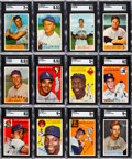 Baseball Cards:Lots, 1954 Topps and Bowman Baseball Shoebox Collection (273)....