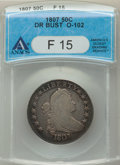Early Half Dollars, 1807 50C Draped Bust, O-102, T-8, R.2, Fine 15 ANACS. NGC Census: (2/48). PCGS Population: (3/26). Fine 15. ...
