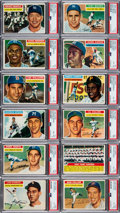 Baseball Cards:Sets, 1956 Topps Baseball Near Set (335/340) Plus Both Checklists & Stock Variations (366 total). ...
