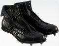 """Autographs:Others, Y.A. Tittle """"H.O.F. '71"""" Signed Cleats...."""