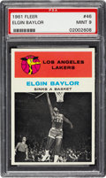 Basketball Cards:Singles (Pre-1970), 1961 Fleer Elgin Baylor In Action #46 PSA Mint 9 - Only OneHigher....