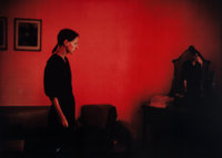 Nan Goldin (American, b. 1953) Suzanne with Mona Lisa, 1981 Dye destruction 30 x 40 inches (76.2