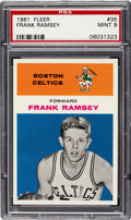 Basketball Cards:Singles (Pre-1970), 1961 Fleer Frank Ramsey #35 PSA Mint 9 - Only One Higher....