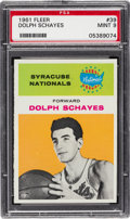 Basketball Cards:Singles (Pre-1970), 1961 Fleer Dolph Schayes #39 PSA Mint 9 - Only One Higher....
