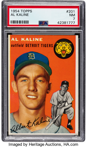 1954 Topps Al Kaline 201 Psa Nm 7 Baseball Cards
