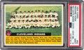 Baseball Cards:Singles (1950-1959), 1956 Topps Indians (No Date-Centered-White Back) #85 PSA Mint 9 -None Higher....