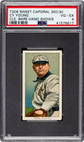 Baseball Cards:Singles (Pre-1930), 1909-11 T206 Sweet Caporal Cy Young (Glove Shows) PSA VG-EX 4....