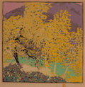 Prints & Multiples, Gustave Baumann (German/American, 1881-1971). Autumnal Glory, 1917. Woodblock print in colors. 13 x 13 inches (33.0 x 33...