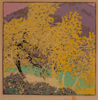 Gustave Baumann (German/American, 1881-1971) Autumnal Glory, 1917 Woodblock print in colors 13 x