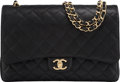 """Luxury Accessories:Bags, Chanel Black Quilted Caviar Leather Maxi Double Flap Bag with GoldHardware. Condition: 2. 13"""" Width x 9"""" Height x 4""""..."""