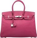 Luxury Accessories:Bags, Hermès Limited Edition 35cm Tosca & Rose Tyrien Epsom Leather Candy Birkin Bag with Palladium Hardware. O Square, 2011. ...