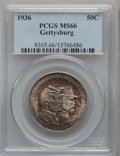 1936 50C Gettysburg MS66 PCGS. PCGS Population: (800/130). NGC Census: (340/65). CDN: $800 Whsle. Bid for problem-free N...