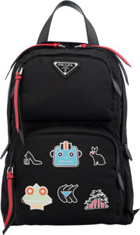 Prada Black Nylon Robot Charm Backpack The Collection of Candy Spelling Condition: 1 <
