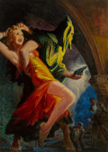 Mainstream Illustration, Harry Lemon Parkhurst (American, 1876-1962). The Monster Fringe,Spicy Mystery magazine cover, May 1941. Oil on canvas. ...