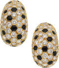 Estate Jewelry:Earrings, Diamond, Black Onyx, Gold Earrings, Cartier, French. ...