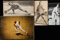 Autographs:Index Cards, Baseball Hall of Fame Signed Cut Lot of 4....