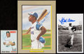 Autographs:Photos, Hank Aaron Signed Image Lot of 3....