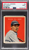 Baseball Cards:Singles (1930-1939), 1932 U.S. Caramel Bill Dickey #6 PSA Mint 9 - Pop One, None Higher! ...