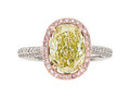 Estate Jewelry:Rings, Chameleon Diamond, Pink Diamond, Diamond, Gold Ring . ...