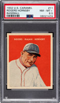 Baseball Cards:Singles (1930-1939), 1932 U.S. Caramel Rogers Hornsby #11 PSA NM-MT+ 8.5 - Pop One, None Higher! ...