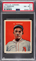 Baseball Cards:Singles (1930-1939), 1932 U.S. Caramel Al Simmons #17 PSA NM-MT+ 8.5 - Pop Two, Only OneHigher. ...