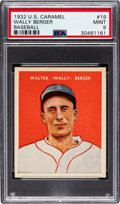 Baseball Cards:Singles (1930-1939), 1932 U.S. Caramel Wally Berger #19 PSA Mint 9 - Pop One, None Higher! ...