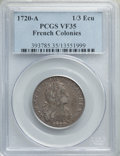 French Colonies, French Colonies: Louis XV 1/3 Ecu 1720-A VF35 PCGS,...