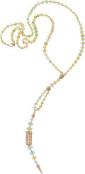 Estate Jewelry:Necklaces, Opal, Diamond, Gold Necklace. ...