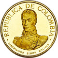 "Colombia, Colombia: Republic 5-Piece gold ""Battle of Boyaca"" Proof Set1969,... (Total: 5 coins)"