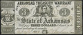 Obsoletes By State:Arkansas, (Little Rock), AR- State of Arkansas $3 Apr. 4, 1862 Cr. 44 Fine-Very Fine.. ...