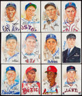 Autographs:Sports Cards, 1980-89 Perez-Steele Baseball Hall of Fame Signed Postcards Lot of 12....