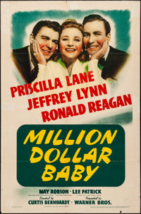"Million Dollar Baby (Warner Brothers, 1941). Folded, Fine+. One Sheet (27"" X 41""). Drama"