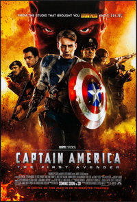 """Captain America: The First Avenger (Paramount, 2011). Rolled, Very Fine+. One Sheet (27"""" X 40"""") DS Advance. Ac..."""