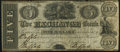 Canadian Currency, Chippewa, UC- Exchange Bank Company of Chippewa $5 18__ Ch.# 240-10-02R Remainder (Spurious) Fine-Very Fine. . ...