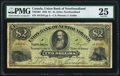 Canadian Currency, St. John's, NF- Union Bank of Newfoundland $2 1.5.1882 Ch.#750-16-02 PMG Very Fine 25.. ...