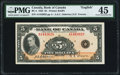 Canadian Currency, BC-5 $5 1935 English Text PMG Choice Extremely Fine 45.. ...