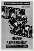 "Movie Posters:Rock and Roll, A Hard Day's Night (Universal, R-1982). Rolled, Very Fine. One Sheet (27"" X 41""). Rock and Roll.. ..."