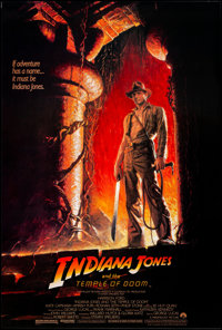 "Indiana Jones and the Temple of Doom (Paramount, 1984). Rolled, Very Fine/Near Mint. One Sheet (27"" X 40"") SS..."
