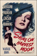 """Movie Posters:Musical, Shine on Harvest Moon (Warner Brothers, 1944). Folded, Fine/VeryFine. One Sheet (27"""" X 41""""). Musical.. ..."""