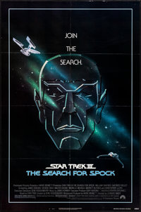 """Star Trek III: The Search for Spock (Paramount, 1984). Folded, Very Fine+. One Sheet (27"""" X 41"""") Gerard Huerta..."""