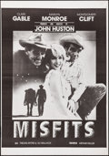 """Movie Posters:Drama, The Misfits (United Artists, R-1970s). Folded, Very Fine. One Sheet(27"""" X 41""""). Drama.. ..."""