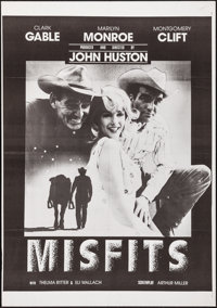 "The Misfits (United Artists, R-1970s). Folded, Very Fine. One Sheet (27"" X 41""). Drama"