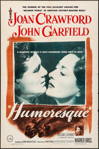"Humoresque (Warner Brothers, 1946). Folded, Fine-. One Sheet (27"" X 41""). Romance"