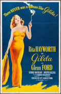 "Movie Posters:Film Noir, Gilda (Columbia, R-1959). Folded, Fine+. Trimmed One Sheet (25.75""X 39.75""). Film Noir.. ..."