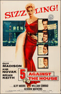 "Movie Posters:Film Noir, 5 Against the House (Columbia, 1955). Folded, Fine/Very Fine. OneSheet (27"" X 41""). Film Noir.. ..."