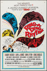 """Ring-A-Ding Rhythm & Other Lot (Columbia, 1962). Folded, Overall: Very Fine. One Sheets (2) (27"""" X 41""""). R..."""