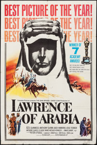 "Lawrence of Arabia (Columbia, 1962). Folded, Fine+. One Sheet (27"" X 41""). Academy Award Style D. Academy Awar..."
